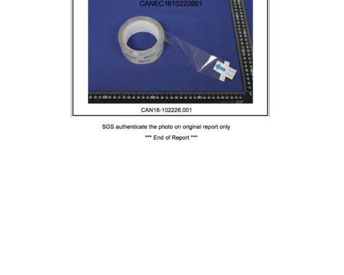 GD-Adheisve tape SGS report